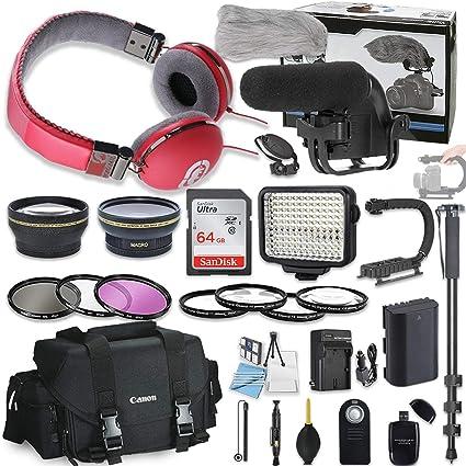 58 mm 20 piezas Kit de accesorios para Canon EOS 70d, 80d, 7d Mark ...