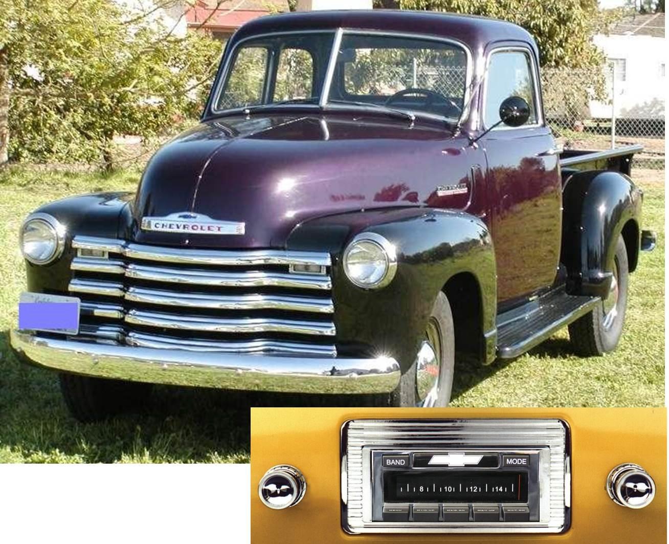 1947-1953 Chevy Truck USA-630 II High Power 300 watt AM FM Car Stereo/Radio with iPod Docking Cable by Custom Autosound B00ZYAKTIO