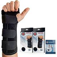 Doctor Developed Carpal Tunnel Night Wrist Brace & Wrist Support [Single] (With Splint) & Doctor Written Handbook…