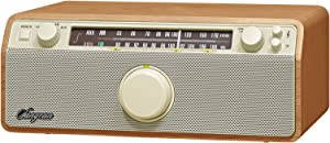 Sangean WR-12 AM/FM/Aux-In Stereo Analog Wooden Cabinet Radio (Walnut)