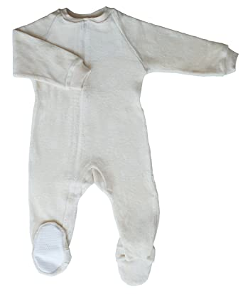 6e823960e9bd Amazon.com  CastleWare Baby Footie Pajama - Organic Cotton Velour ...