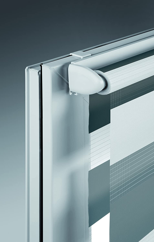 Mydeco® Duo-Rollo Fensterrollo Klemmfix ohne Bohren, Farbe Farbe Farbe Triple  Weiß, Cappuccino, Mocca 120 x 160 cm Seitenzugrollo Doppelrollo inkl. Klemmträger 8eda83