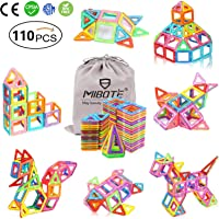 (110 PCS) Magnetic Building Blocks Educational Stacking Blocks Toddler Toys for Preschool Boys Grils Educational and Creative Imagination Development by Mibote