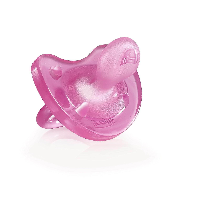 Amazon.com: Chicco Chupete Physio silicona suave rosa + 12 ...