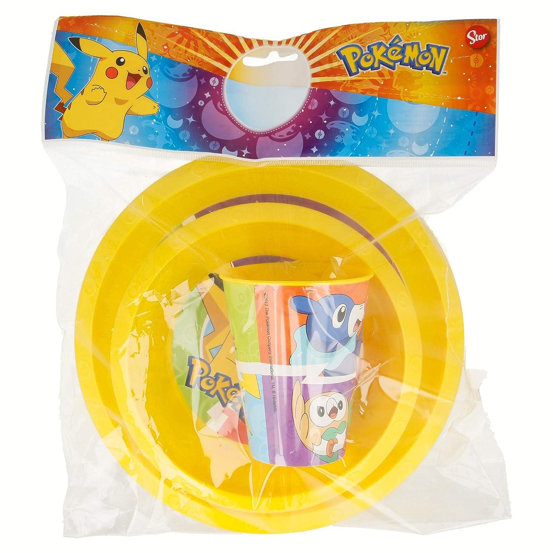 Set easy 3/pi/èces. Assiette, bol et verre 260/ml. Pokemon