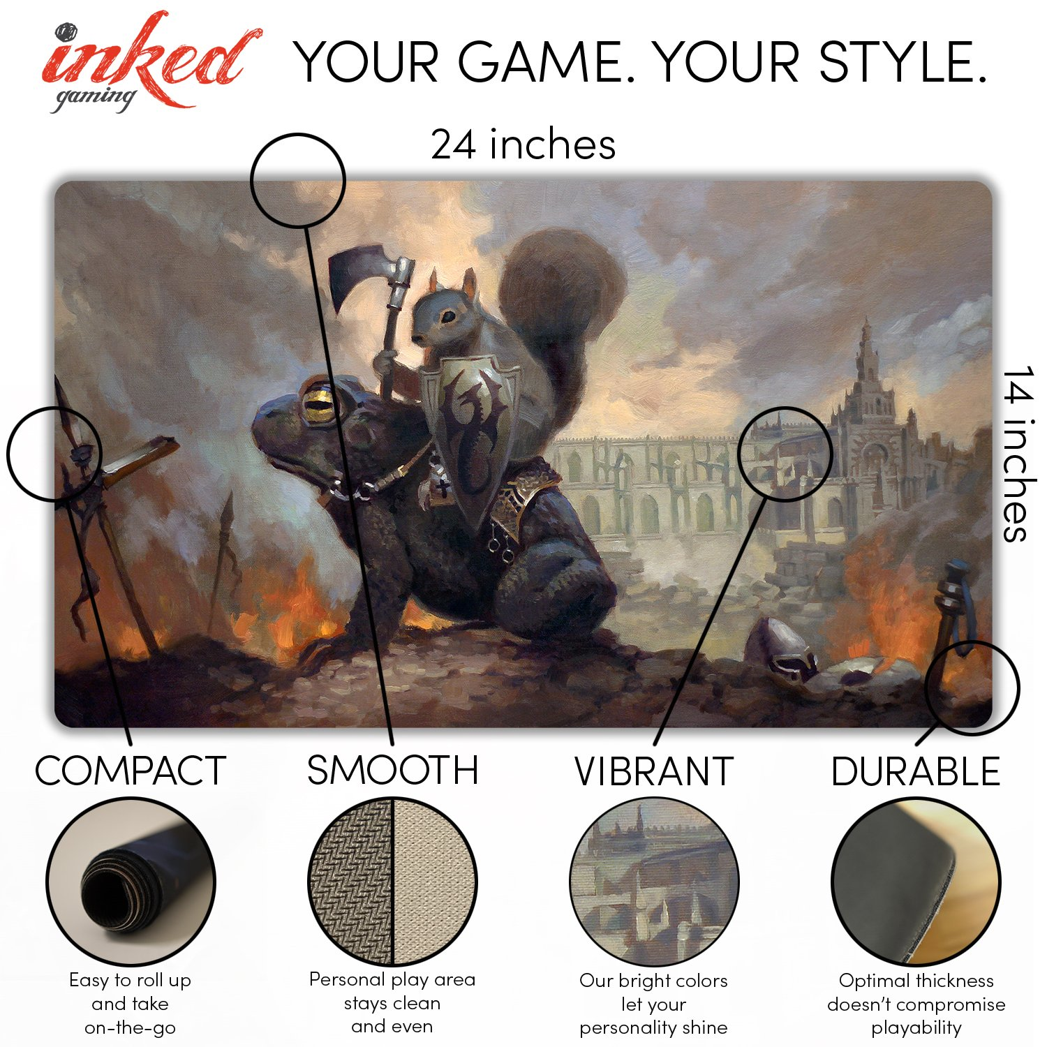 Inked Playmats Toad Rider Playmat Inked Gaming Perfect for Card Gaming TCG Game Mat by Inked Playmats (Image #1)