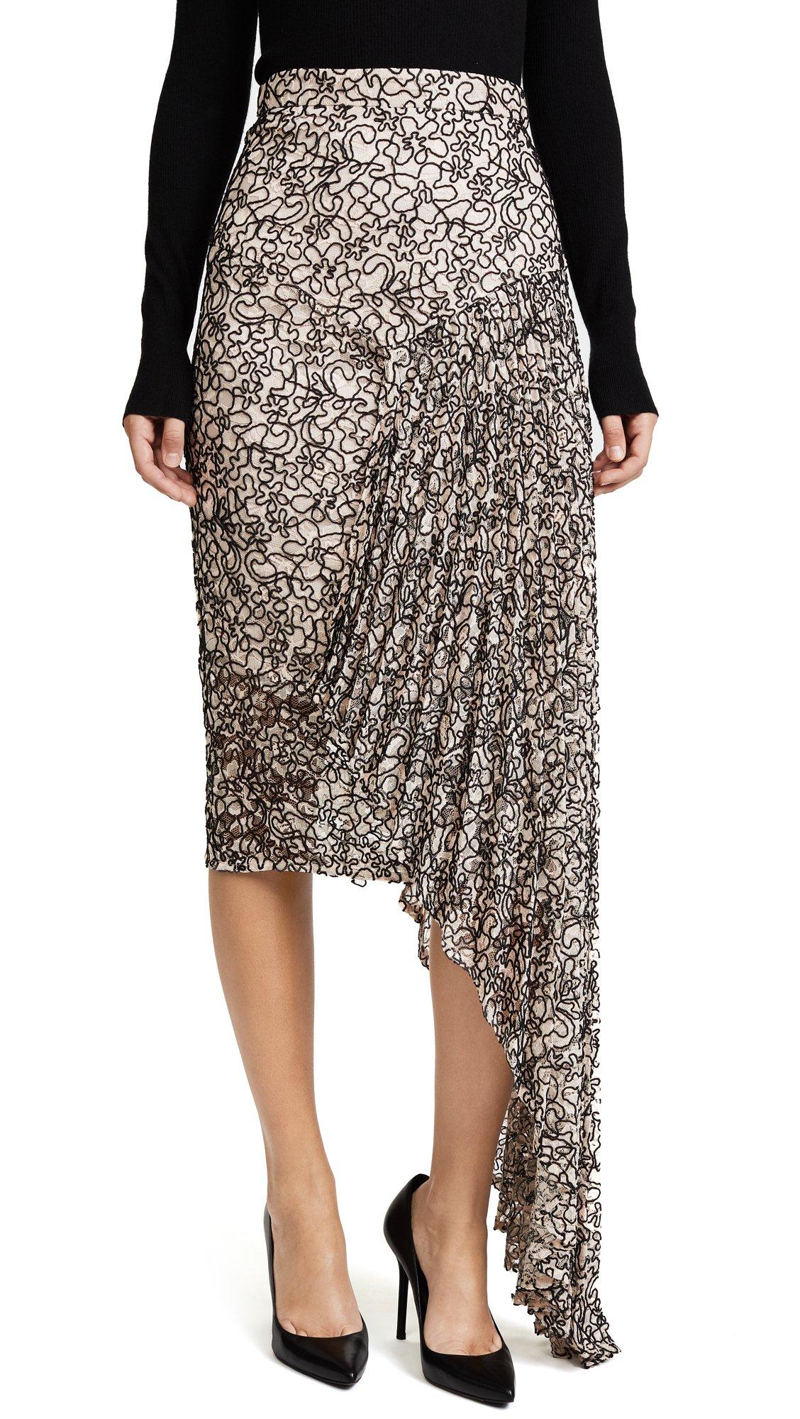 Milly Women's Cascade Skirt, Ballet, 6