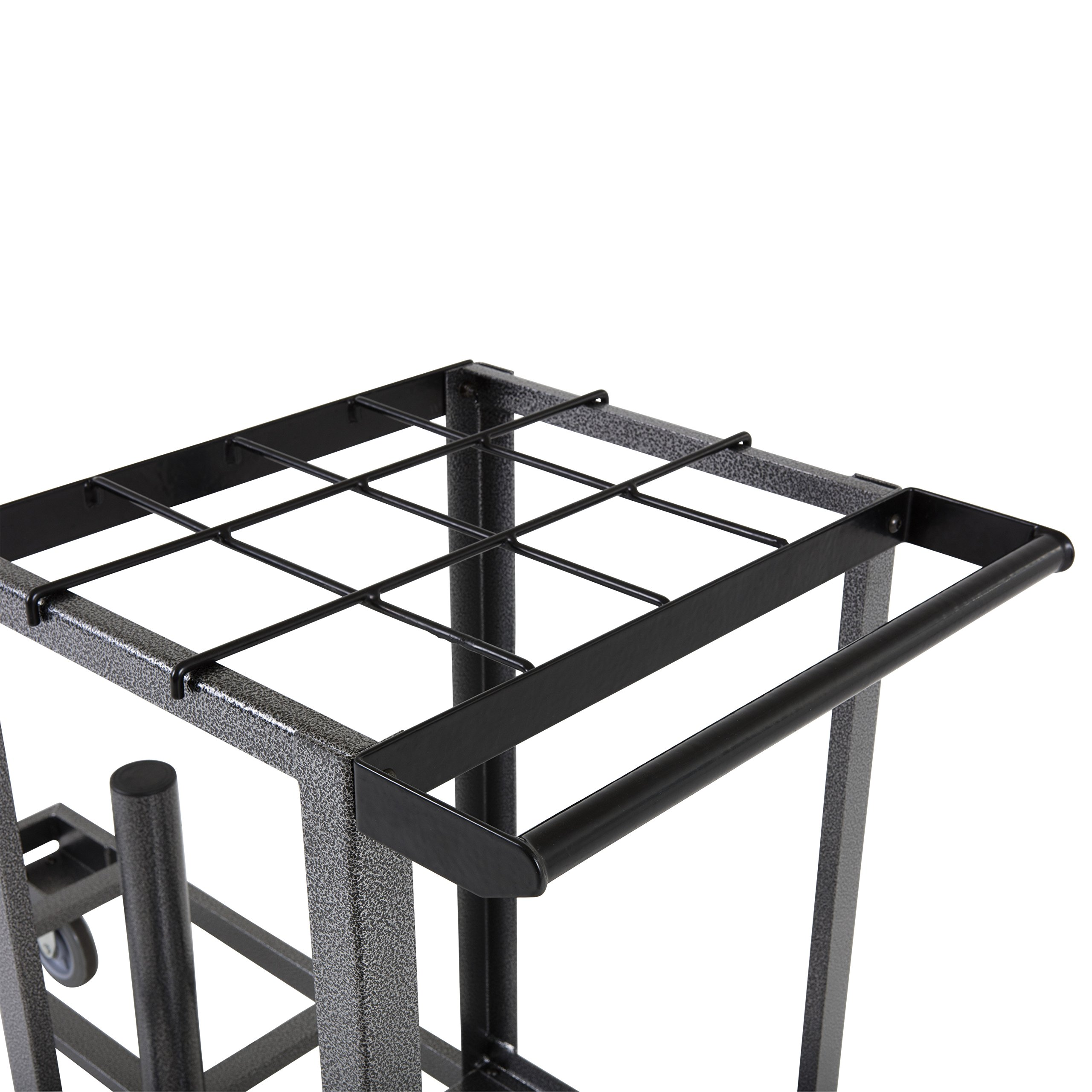 US Weight Statesman Stanchion Cart Kit – 12 Premium Black Steel Stanchions with Cart by US Weight (Image #12)