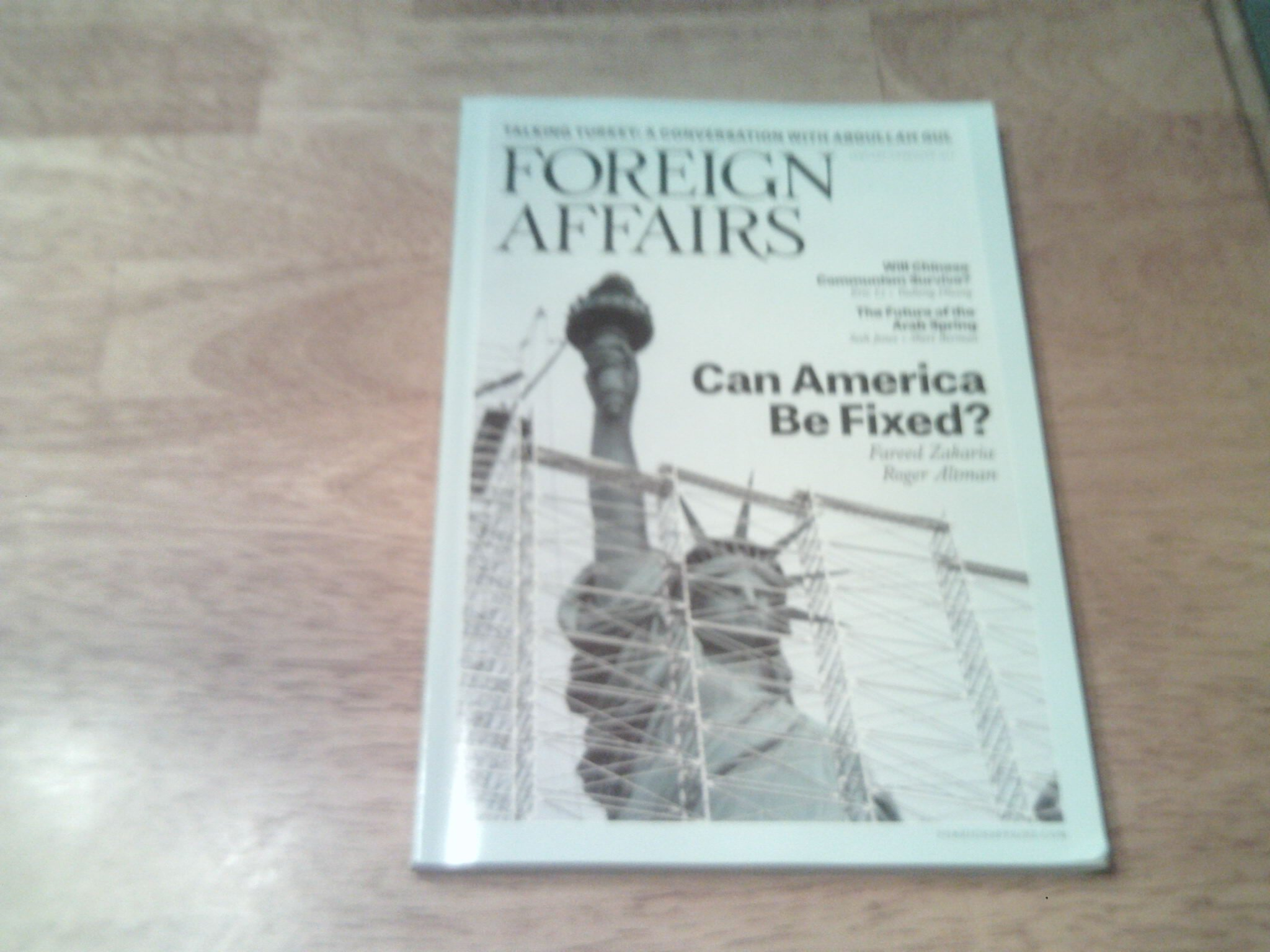 Foreign Affairs 2013 January/february - Can America Be Fixed? By Fareed Zakaria & Roger Altnab PDF