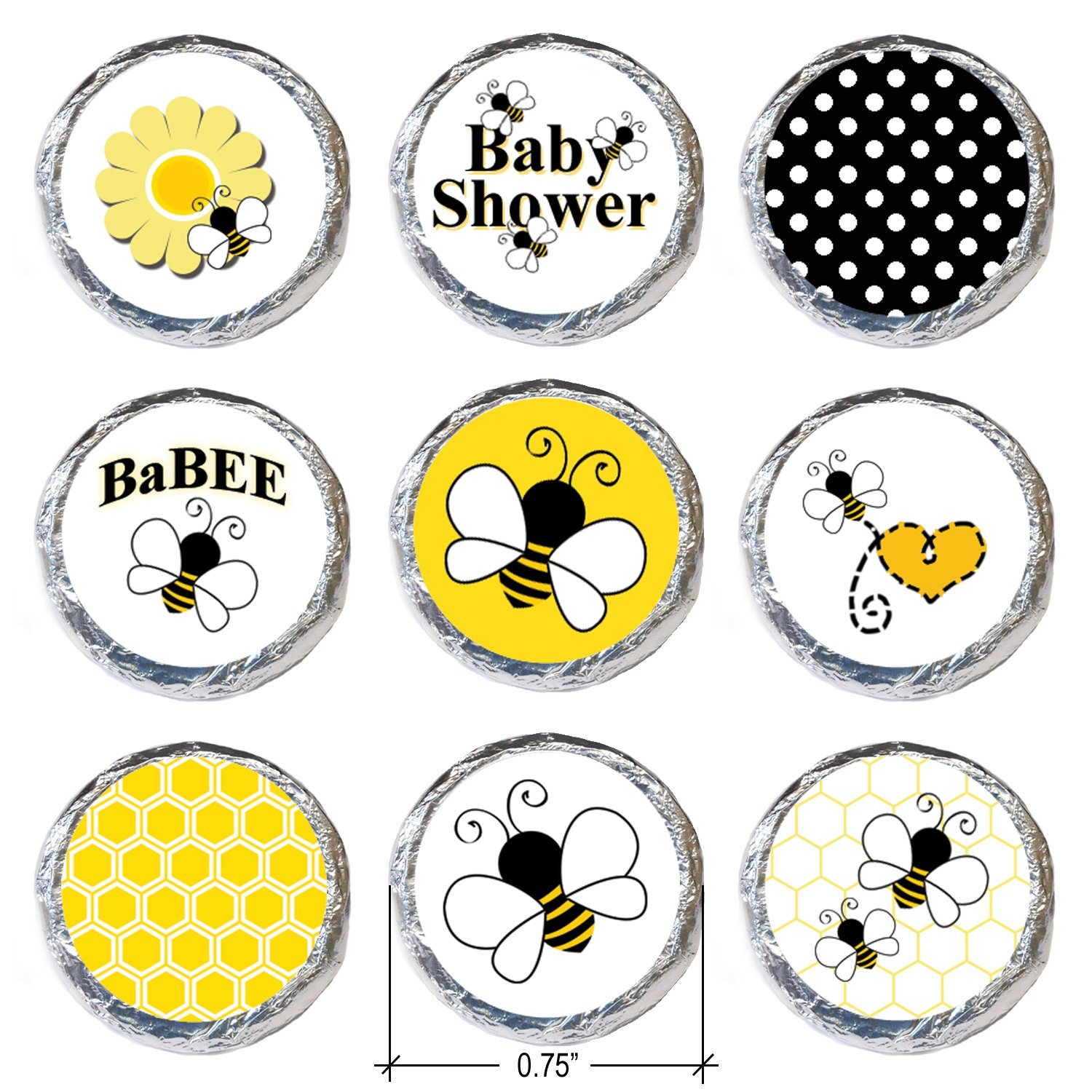 Amazon Bumble Bee Baby Shower Stickers 324 Count Kitchen Dining