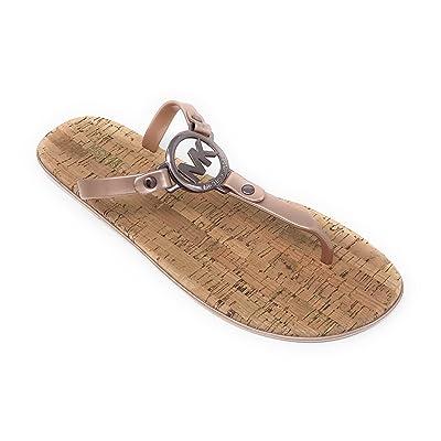 Michael Kors MK Charm Jelly PVC Flip Flop Sandal, Sable | Sandals