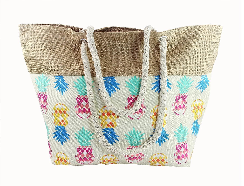 Sac de plage, sac de voyage, Grand sac à main avec fermeture éclair, grand sac à main Shopper, Sac de shopping, sac à bandoulière femme, sac piscine Sac de achats Sac d'épaule Femme différents Motifs