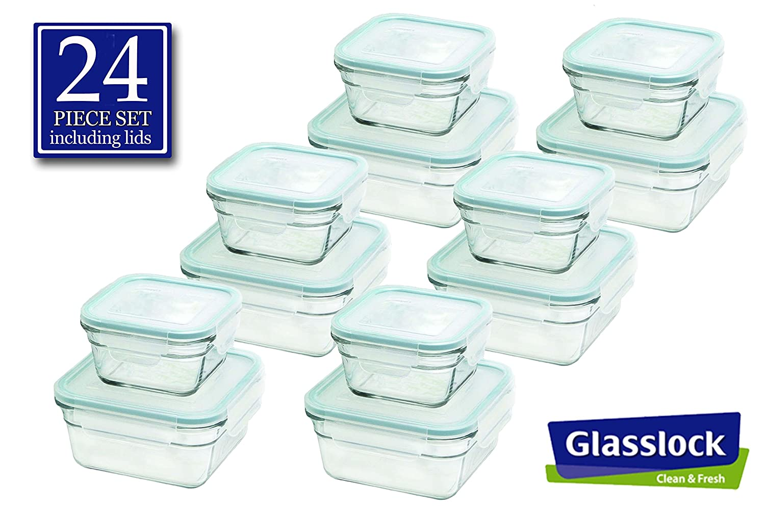 Discount Storage Containers Part - 29: Amazon.com: Snaplock Lid Tempered Glasslock Storage Containers Anti Spill  Microwave U0026 Oven Safe: Kitchen U0026 Dining