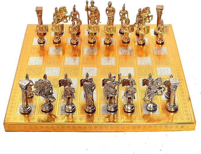 Jaipur - Juego de Mesa de ajedrez con diseño de ejército Romano, Ideal para decoración del hogar y para Regalar (35,6 x 35,6 cm): Amazon.es: Hogar