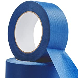 No-Residue 2 Inch, 60 Yard Blue Painters Tape 2 Pk. Easy-Tear, Pro-Grade Removable Masking Tape Great for Home, Office or Commercial Contractor. Clean, Drip-Free Painting with Wide Crepe Paper Rolls