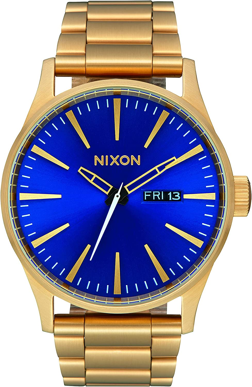 Nixon Sentry SS -Fall 2017- All Gold/Blue Sunray