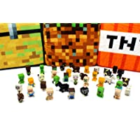 Spainbox Pack 36 Minifiguras Muñecos Juguetes Pixel - Incluye Zombies 🧟 Creepers 👾 Ovejas 🐑 Gatos 🐱 Caballos 🐴 Vacas 🐮 Steve 👦 Slenderman 💀y Muchos más