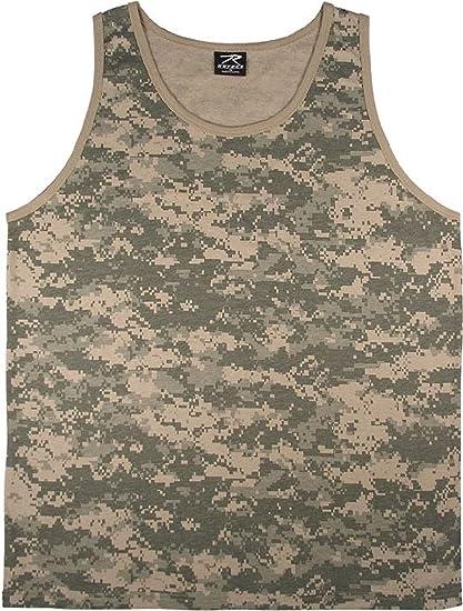 Woodland Camo Tank Top Sleeveless Muscle Tee Camouflage Military Army 6702