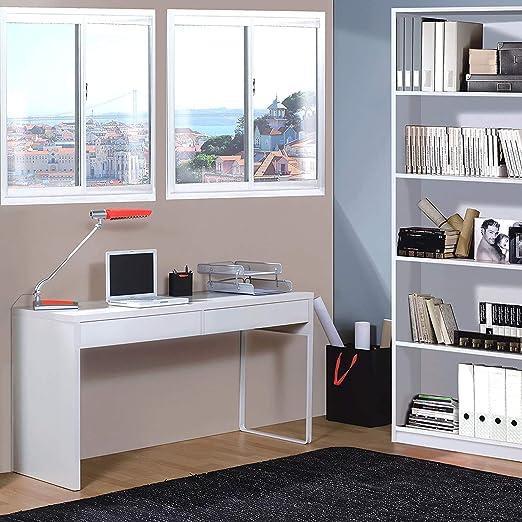 HABITMOBEL Pack de Escritorio, Oficina con Mueble Librería a Juego ...