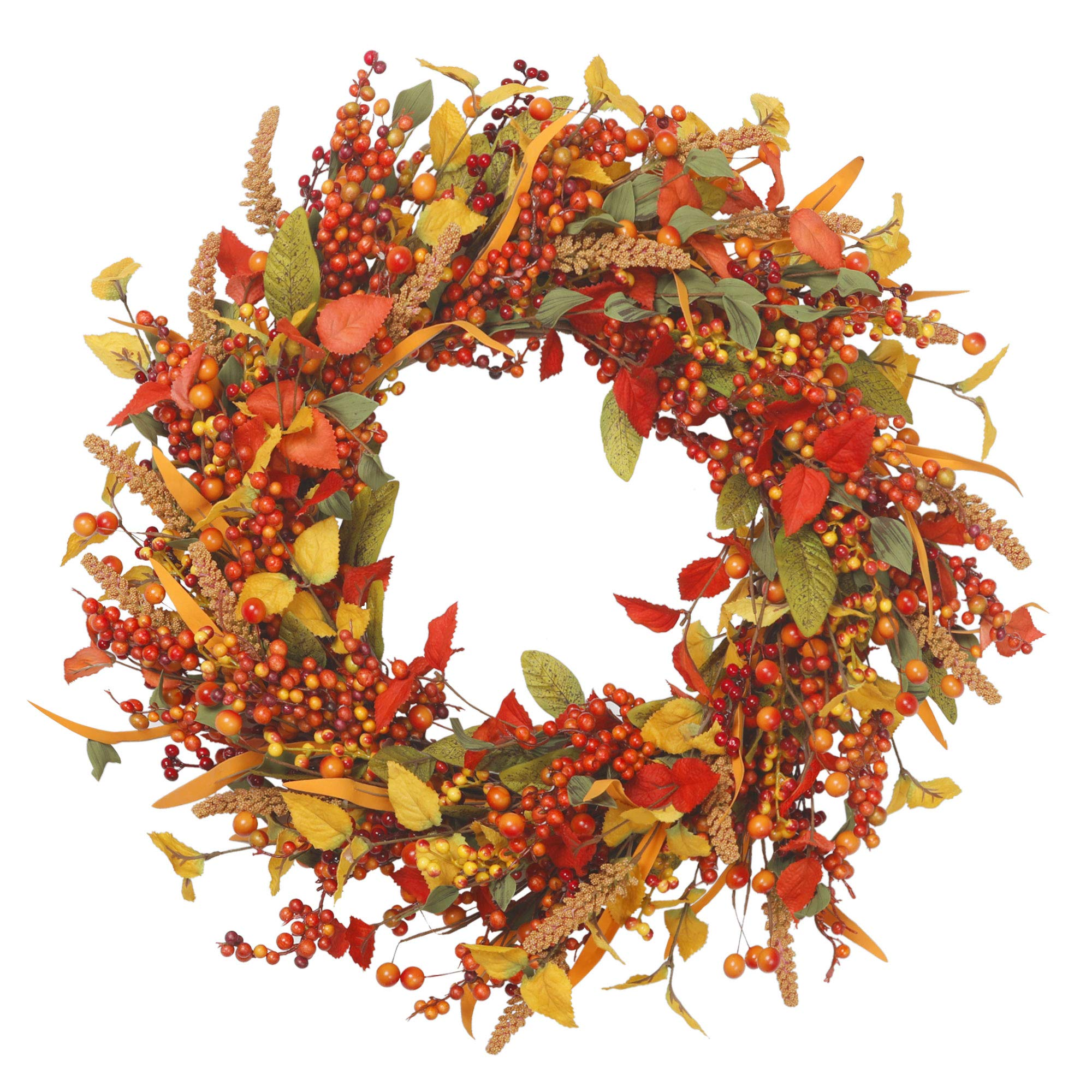 VGIA 22 inch Artificial Fall Wreath Door Wreath Autumn Wreath Berry Wreath Fall Decorations by VGIA