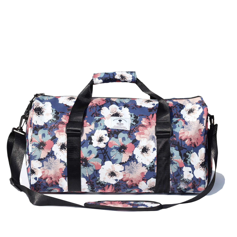 Original Floral Water Resistant Duffel Bag Gym bag Weekender Travel Bag for Gym Beach Travel School Daily Bags