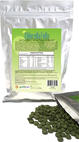 Chlorella Growth Factor 30 CGF Enriched Pure Natural Taiwan Premier Quality Chlorella Tablets 800 250mg Tabs Per Pack 7.1oz
