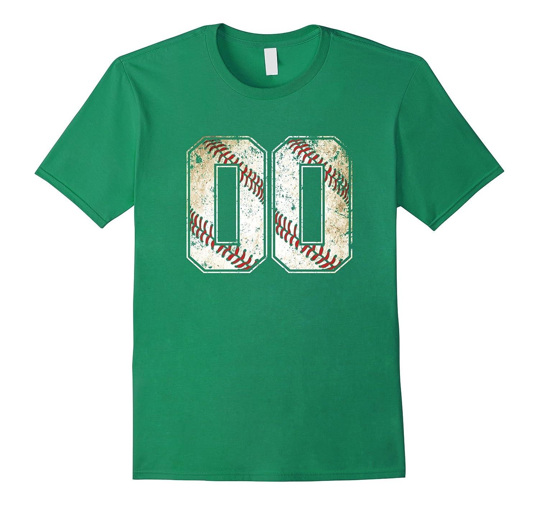 #00 Baseball Jersey Number 00 Retro Vintage T-Shirt-T-Shirt