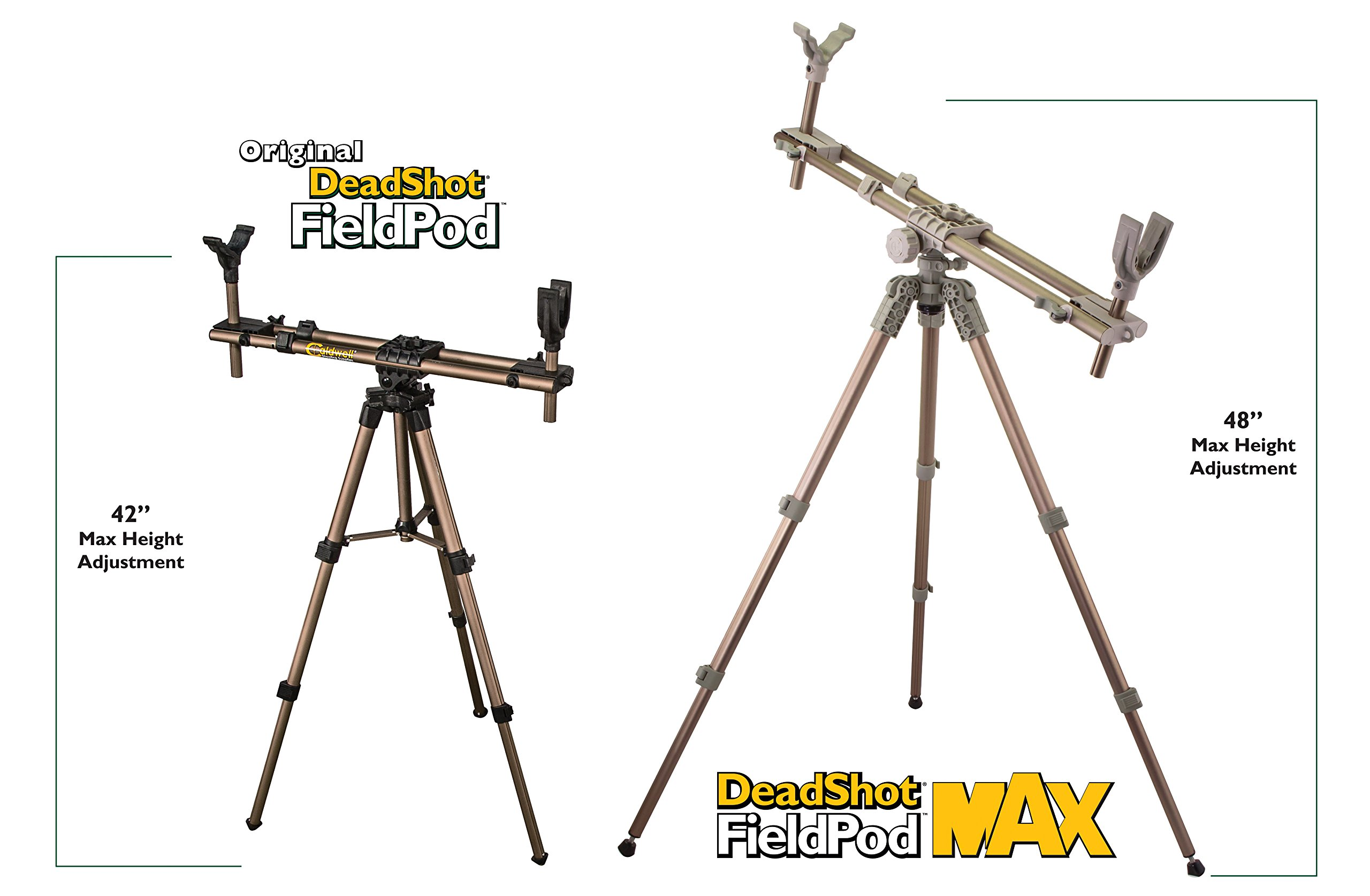 Caldwell DeadShot FieldPod Max Adjustable Ambidextrous Rifle Shooting Rest for Outdoor Range and Hunting by Caldwell (Image #3)