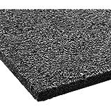 etm Antivibrationsmatte | 62,5x40x2cm | vielseitig einsetzbar, aus Gummigranulat | Schutzmatte für elektrische Geräte | Terrassenpad