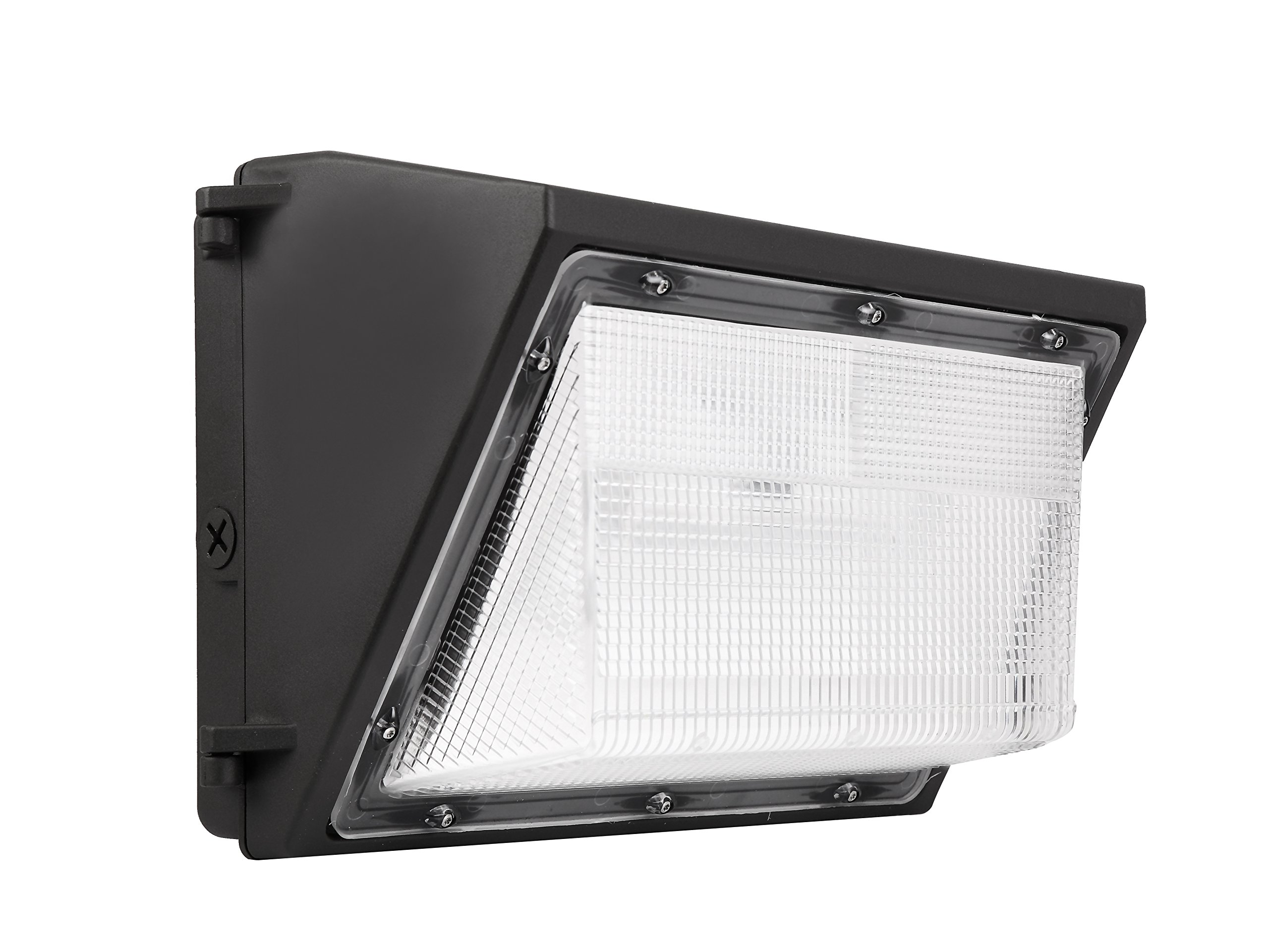 LED Wall Pack Photo Cell - 80W 5000K Commercial Outdoor Light Fixture, Dimmable, (Out-Door Dusk to Dawn Sensor Security Porch Lighting For Industrial Out-Side Photocell)