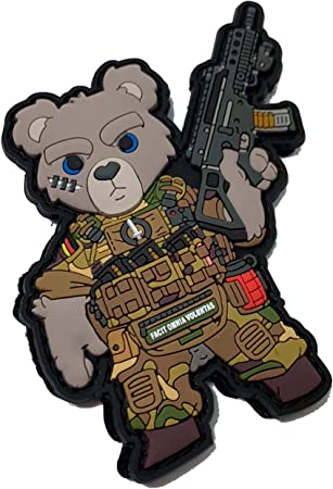 HIWEZ D3ath Tactical Teddy PVC Morale Patch Airsoft Hook Loop
