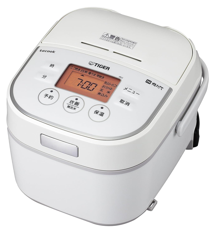 タイガー IH 炊飯器 3合 ホワイト レシピ付 tacook 炊きたて 炊飯 ジャー JKU-A551-W Tiger   B0183EQYNG