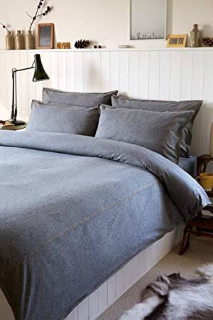 ashley duvet set vintage design casual king cover denim pin bedding solid by signature