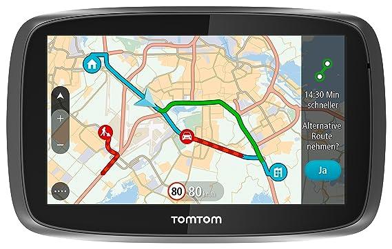 TomTom GO 51 World Traffic Navigationssystem (12,7 cm (5 Zoll) resistives Touch Display - Bedienung per Fingergesten, Lifetim