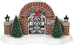 "Department56 Original Snow Village Accessories Entry Gate Lit Figurine, 3.23"", Multicolor"