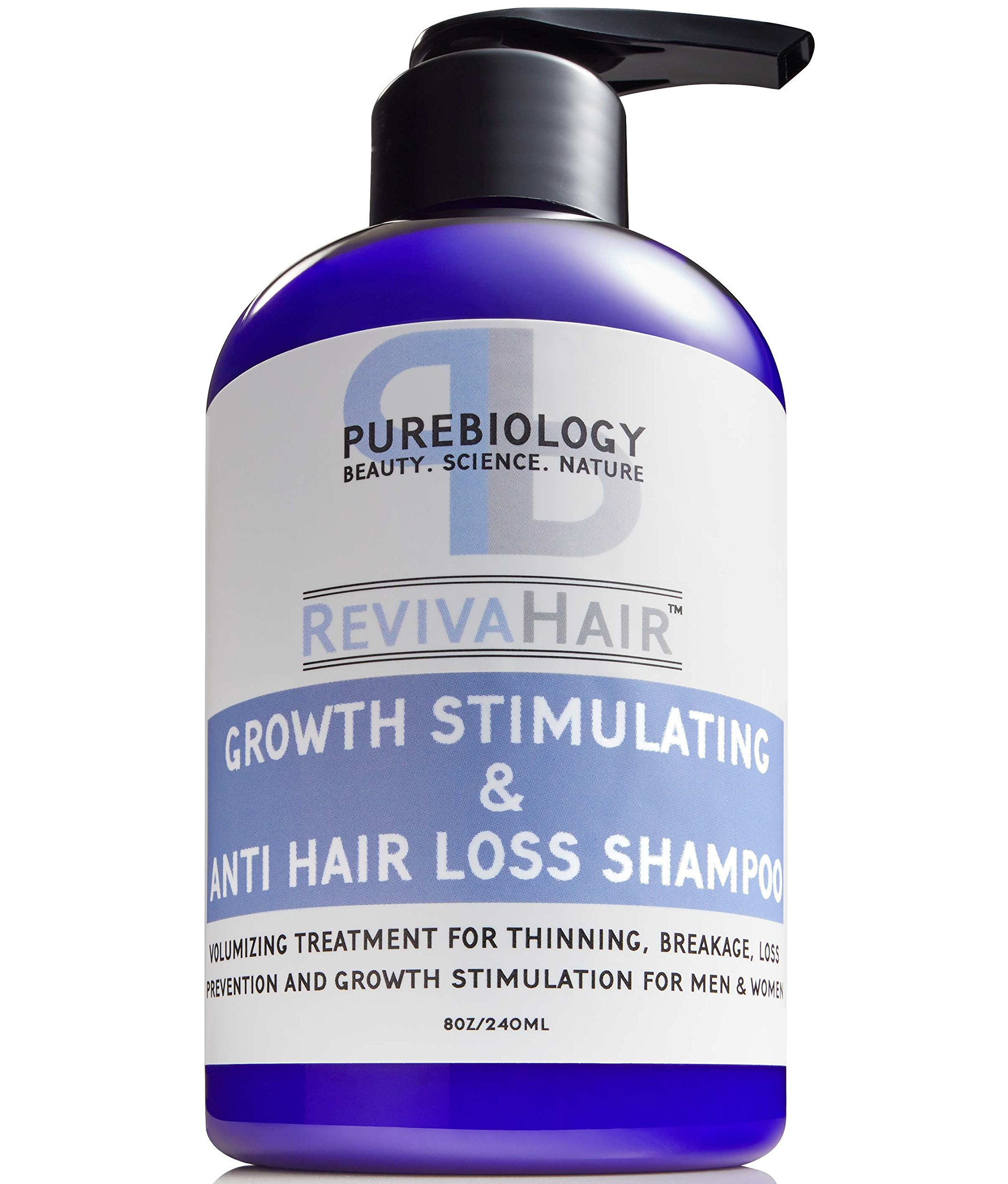 Hair Growth Stimulating Shampoo (Unisex) with Biotin, Keratin & Breakthrough Anti Hair Loss Complex - For men & women by Pure Biology