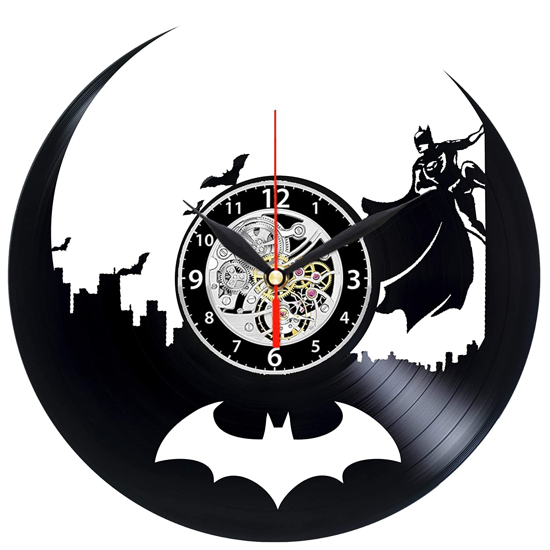 EVEVO Batman Reloj de Pared Vinilo Tocadiscos Retro de Reloj ...