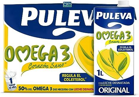 Puleva Omega 3 Leche - Pack 6 x 1Lt: Amazon.es: Alimentación y bebidas