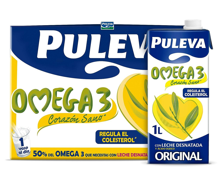 Puleva Omega 3 Leche con Omega 3 - Pack 6 x 1L - Total: 6 L ...