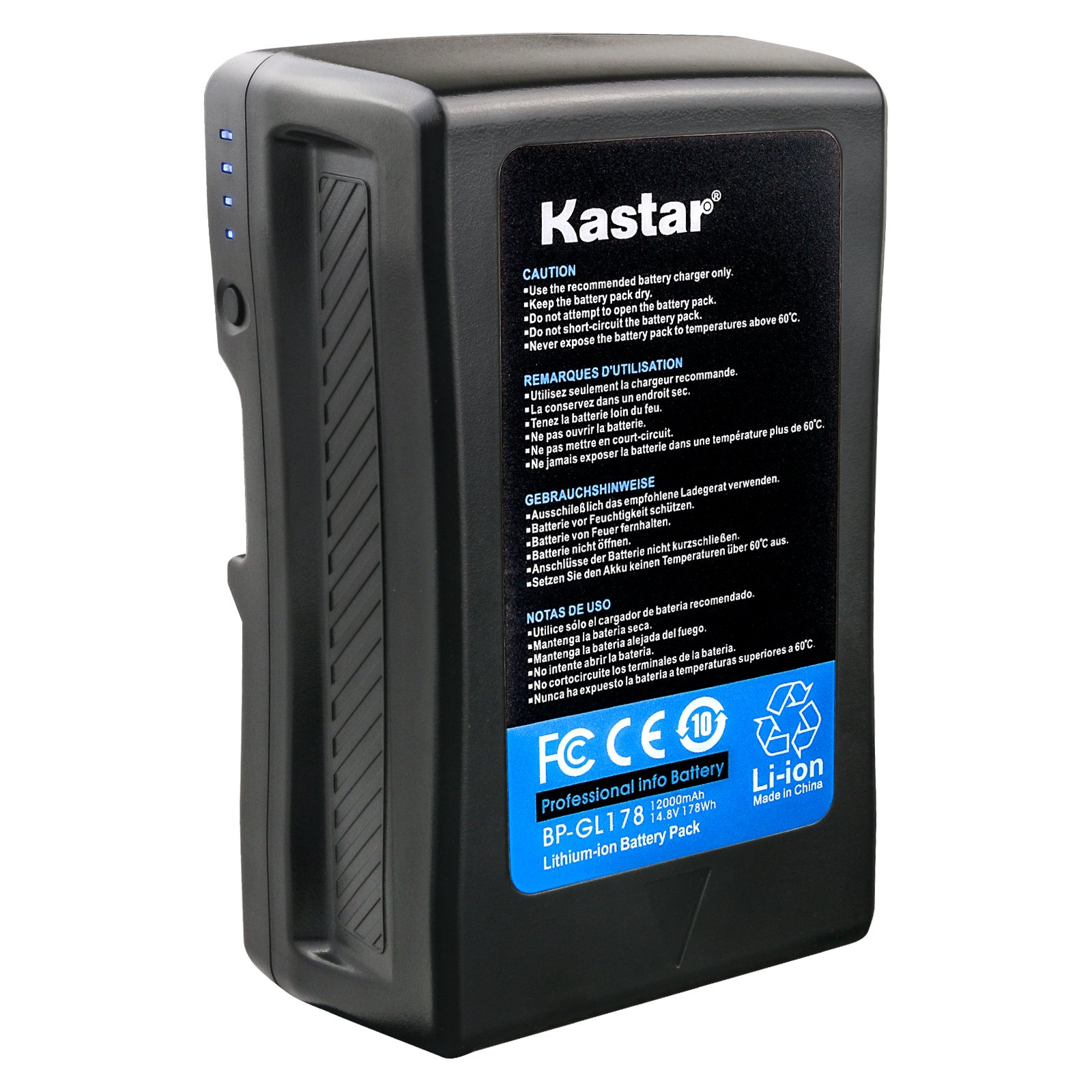 Kastar BP-GL178 Broadcast Replacement V Mount Battery, 14.8V 12000mAh 178Wh for Sony PMW-EX330K PMW-EX330L PMW-580K PMW580L PDW-680 PDW-700 PDW-850 PMW-TD300 HDW-F900R HDW-680 HDW-800P PMW-F55 PMW-F5 by Kastar (Image #1)