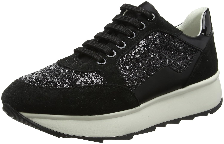 Geox D Gendry B, Zapatillas para Mujer 41 EU|Negro (Black)