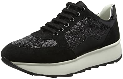 B Geox Gendry Femme Amazon Noir D 37 Basses Black Sneakers EU OEEUw