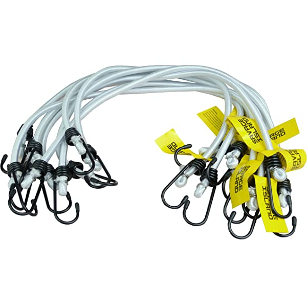 """Savage Island 10 pack Heavy Duty Olive Elastic Military Bungee Cords Olive 30/"""""""