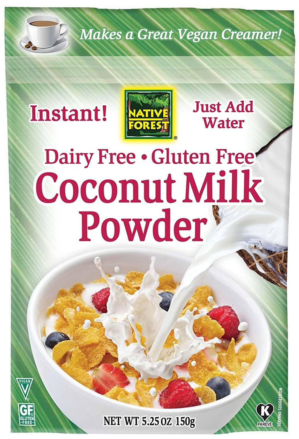 Native Forest Coconut Milk Powder, 5.25 Ounce (Pack of 12)