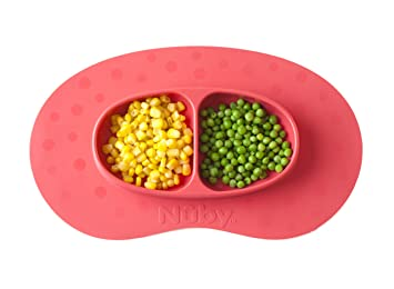 Nuby SureGrip Miracle Mat And Section Plate Green