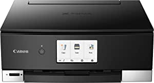 Canon TS8320 All In One Wireless Color Printer For Home   Copier   Scanner   Inkjet Printer   With Mobile Printing, Black, Amazon Dash Replenishment Ready