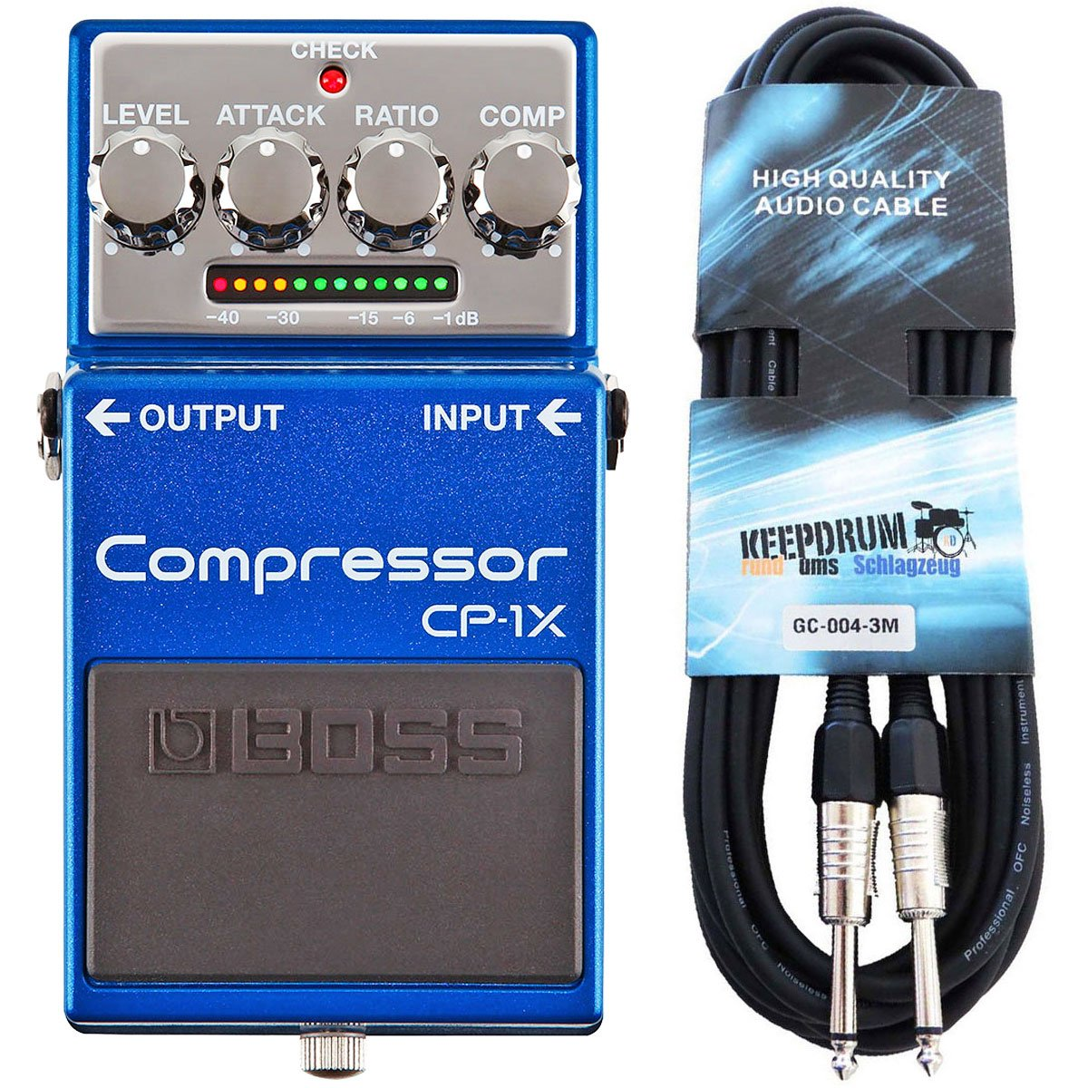 Boss CP de 1 x Compresor Pedal para guitarra Keepdrum Guitarra Cable 3 m: Amazon.es: Instrumentos musicales