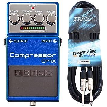 Boss CP de 1 x Compresor Pedal para guitarra Keepdrum Guitarra Cable 3 m