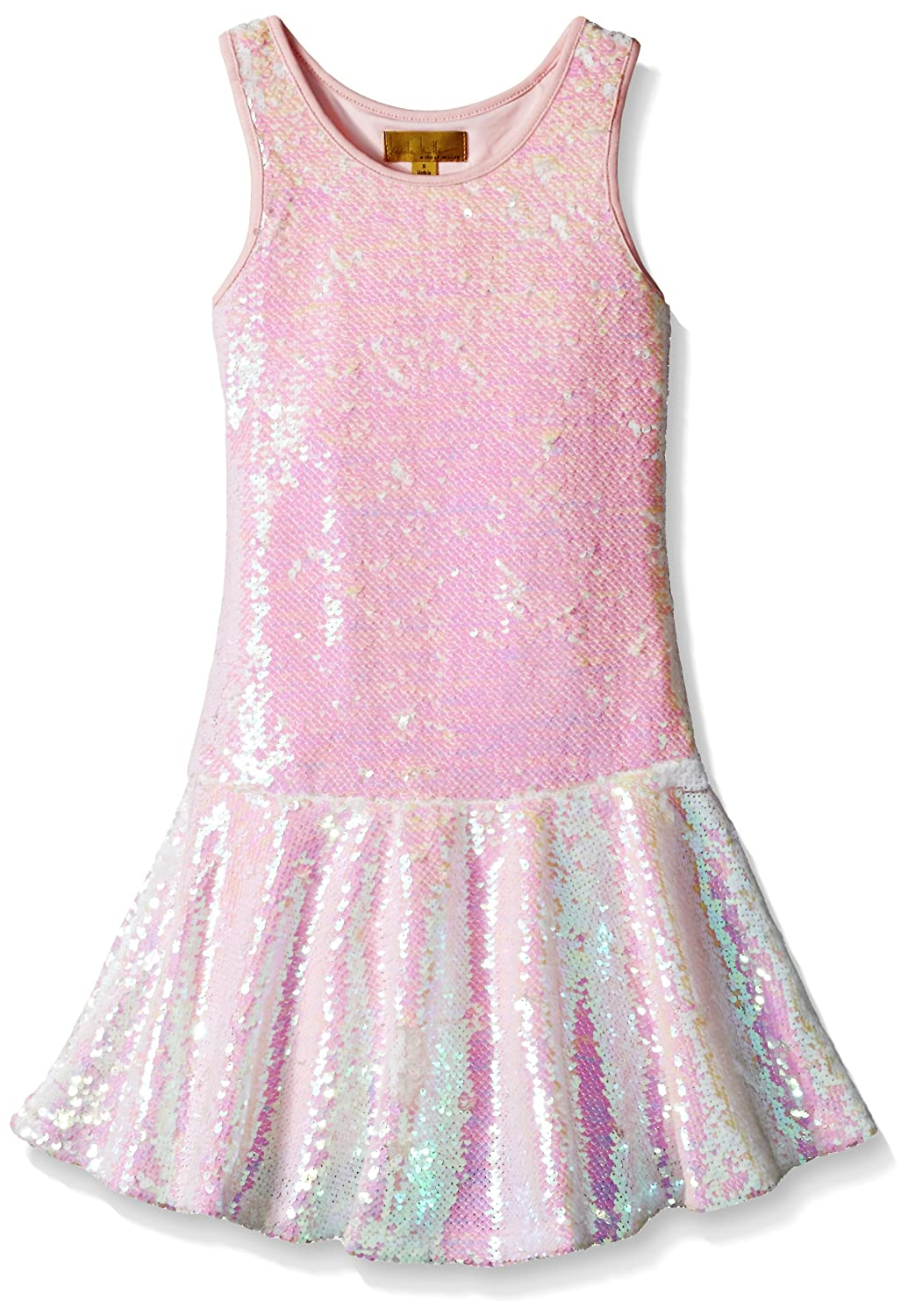 Vintage Style Children's Clothing: Girls, Boys, Baby, Toddler Iridescent Sequin Dress $84.99 AT vintagedancer.com