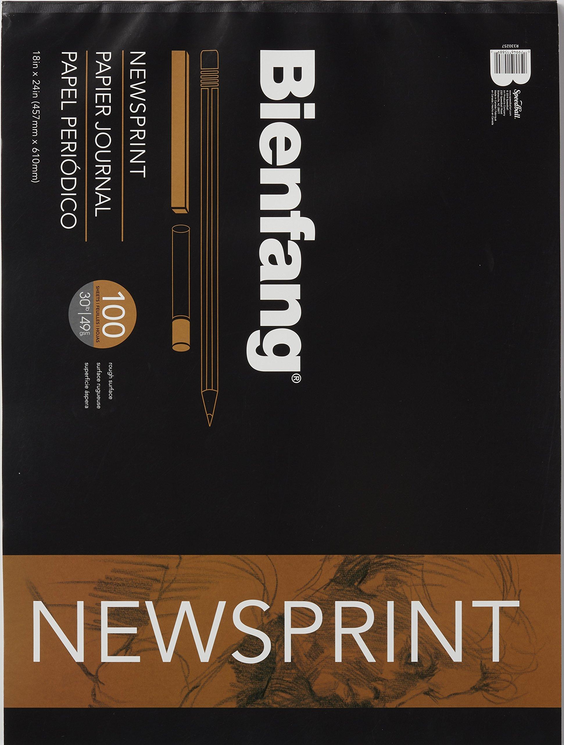 Bienfang 18 by 24-Inch Newsprint Paper Pad, 100 Sheets (R330257) by Bienfang